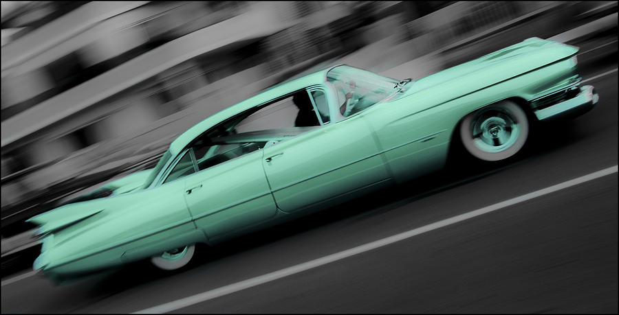 Cyan Caddy Photograph  - Cyan Caddy Fine Art Print