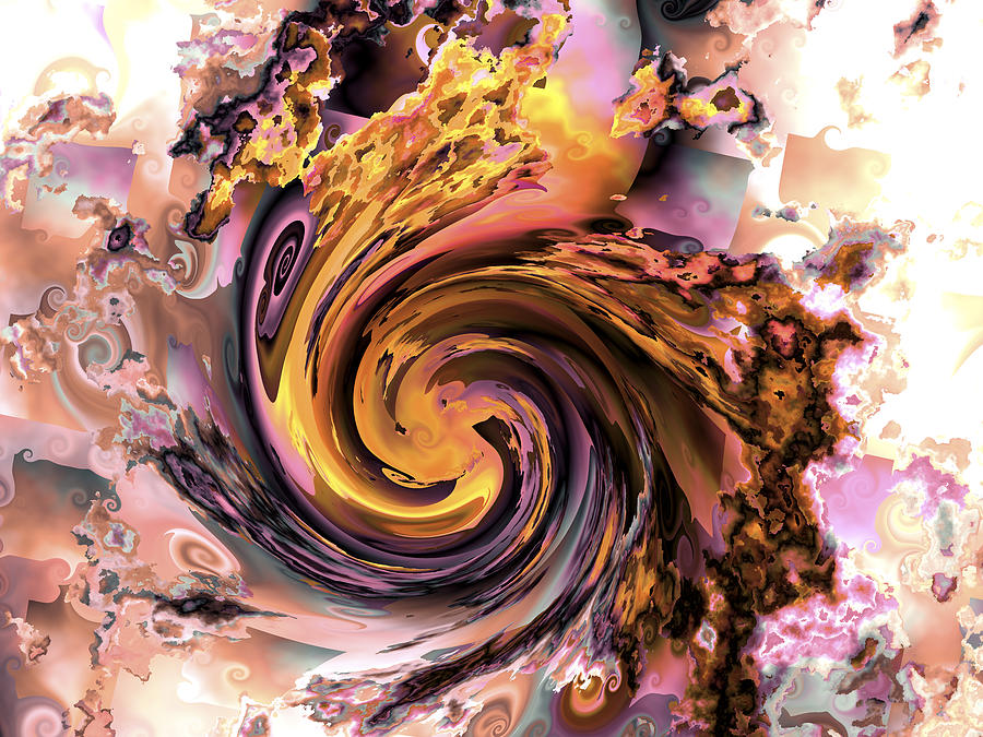 Cyclone Of Color Digital Art