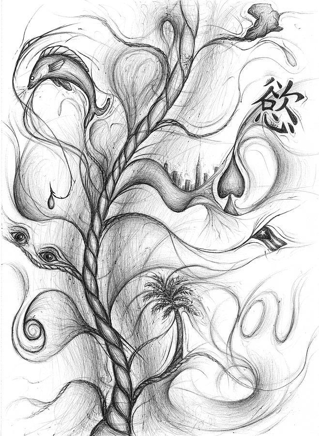Fish Drawing - Cynthia Centipeda by Michael Morgan