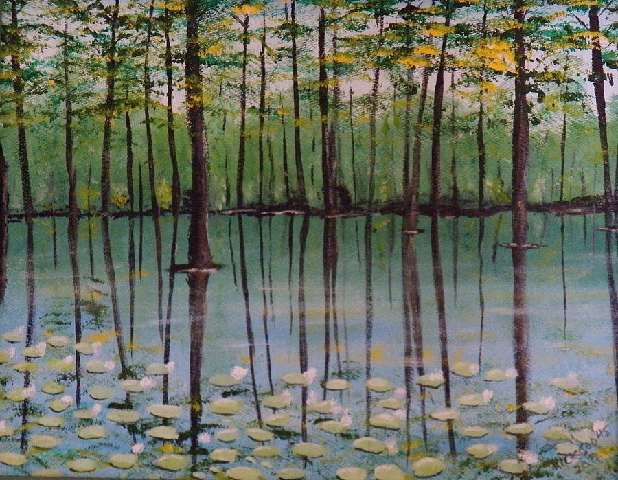 Cypress Garden Painting