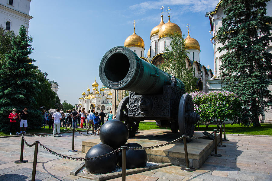 Czar Cannon Of Moscow Kremlin - Featured 3 Photograph