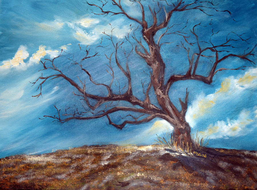 Daddys Tree Painting  - Daddys Tree Fine Art Print