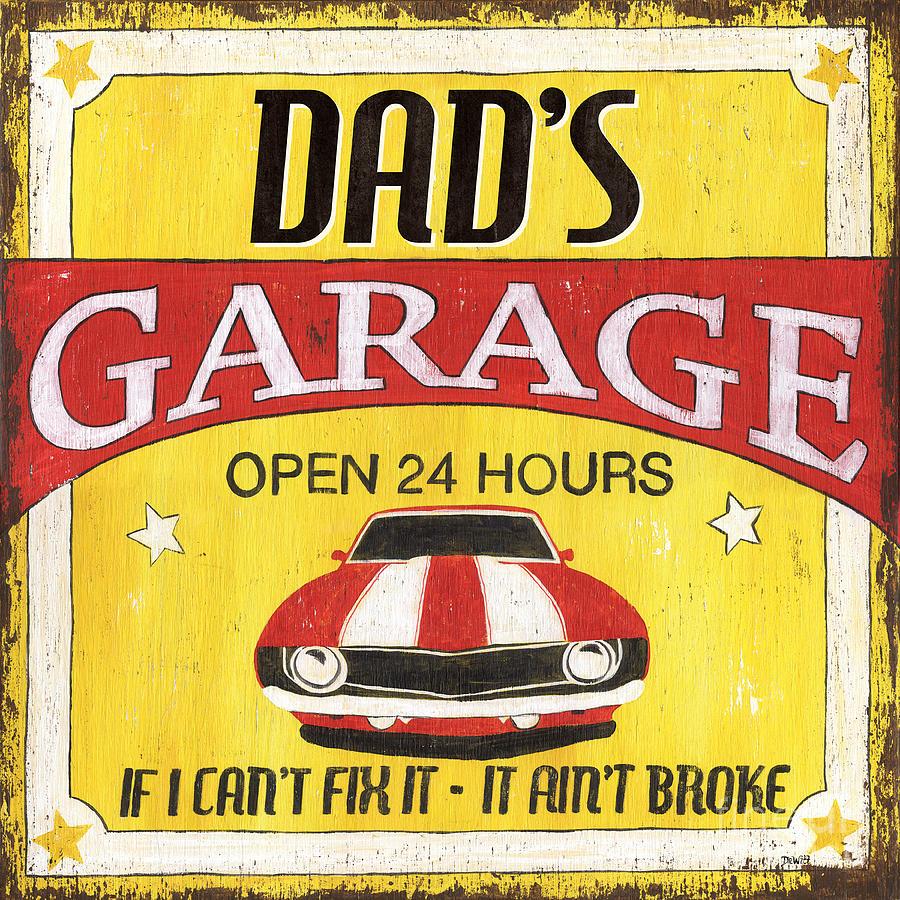 Dad Painting - Dads Garage by Debbie DeWitt
