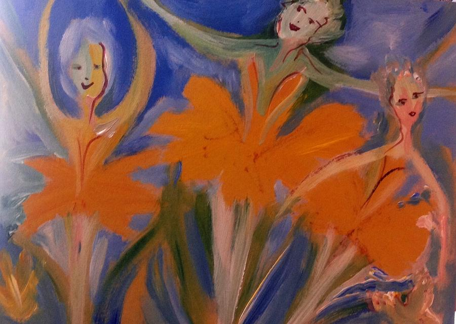 Ballet Painting - Daffodil Ballet by Judith Desrosiers
