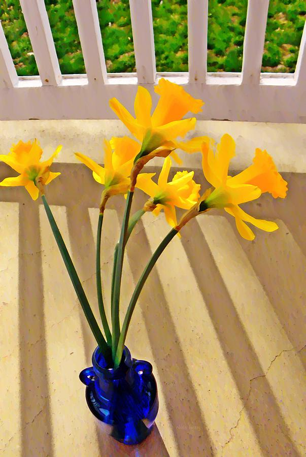 Narcissus Photograph - Daffodil Boquet by Chris Berry