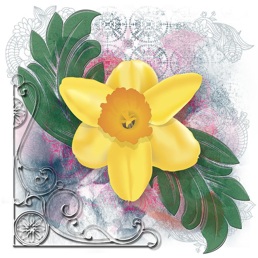 Back to Linda Carruth   Art > Digital Art > Daffodil Digital Art