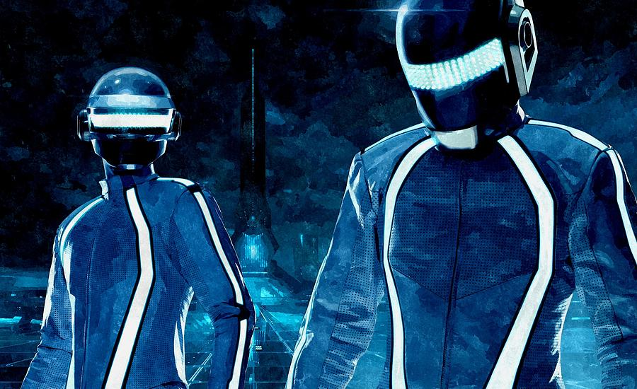 Daft Punk In Tron Legacy Painting