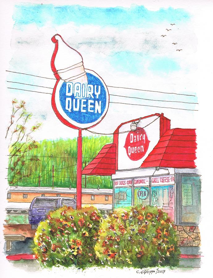 Dairy Queen In Route 66, Williams, Arizona Painting