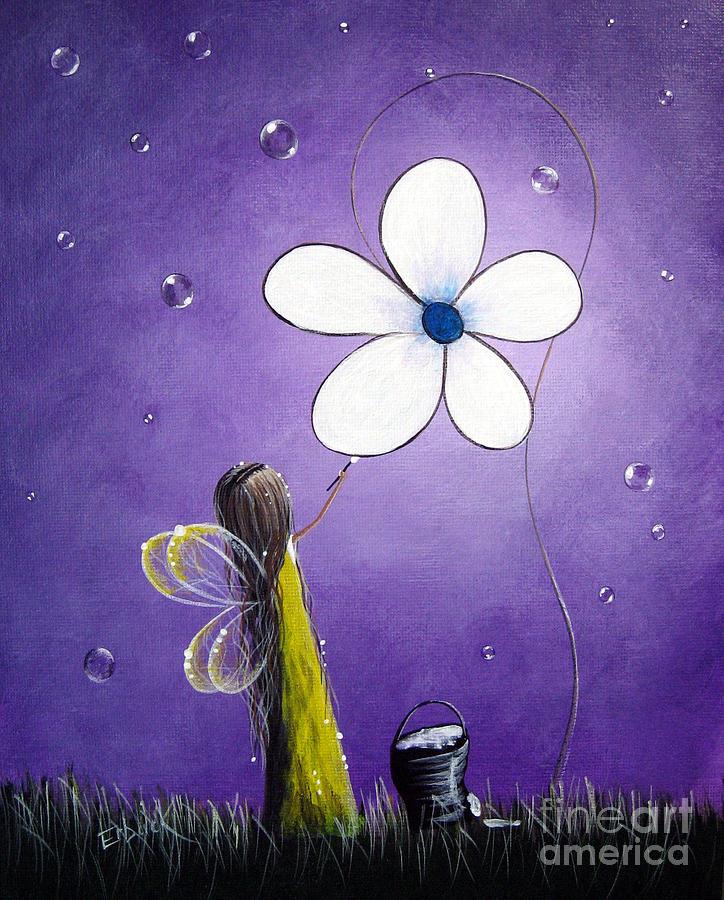 Fairy Painting - Daisy Fairy By Shawna Erback by Shawna Erback