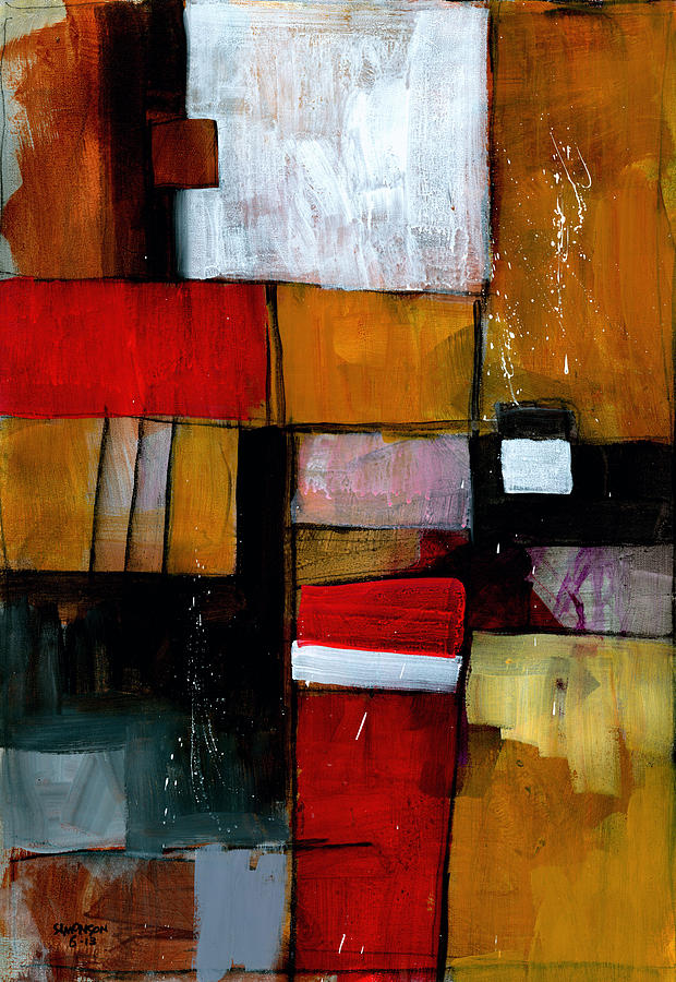 Abstract Painting - Dakota Street 9 by Douglas Simonson