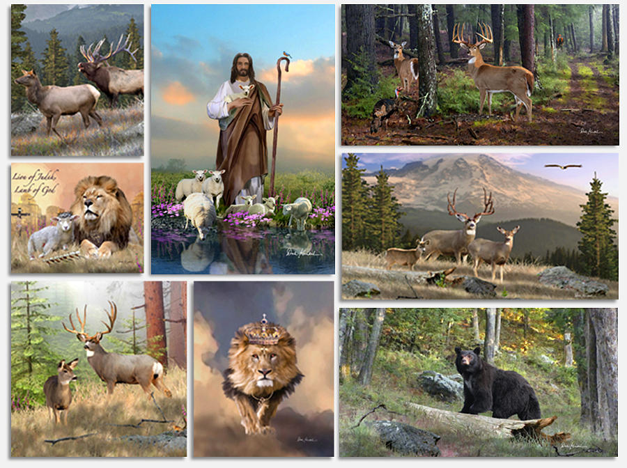 Dale Kunkel Art - We offer Christian Religious Art of Jesus Paintings - Featuring Jesus as the Lion of Judah, Good Shepherd, John 3:16, Resurrection, Last Supper, Ascension, and More. We also offer North American Wildlife Art featuring Whitetail Deer Art, Rocky Mountain Elk Art, Mule Deer Art, and other North American Big Game Wildlife Art.