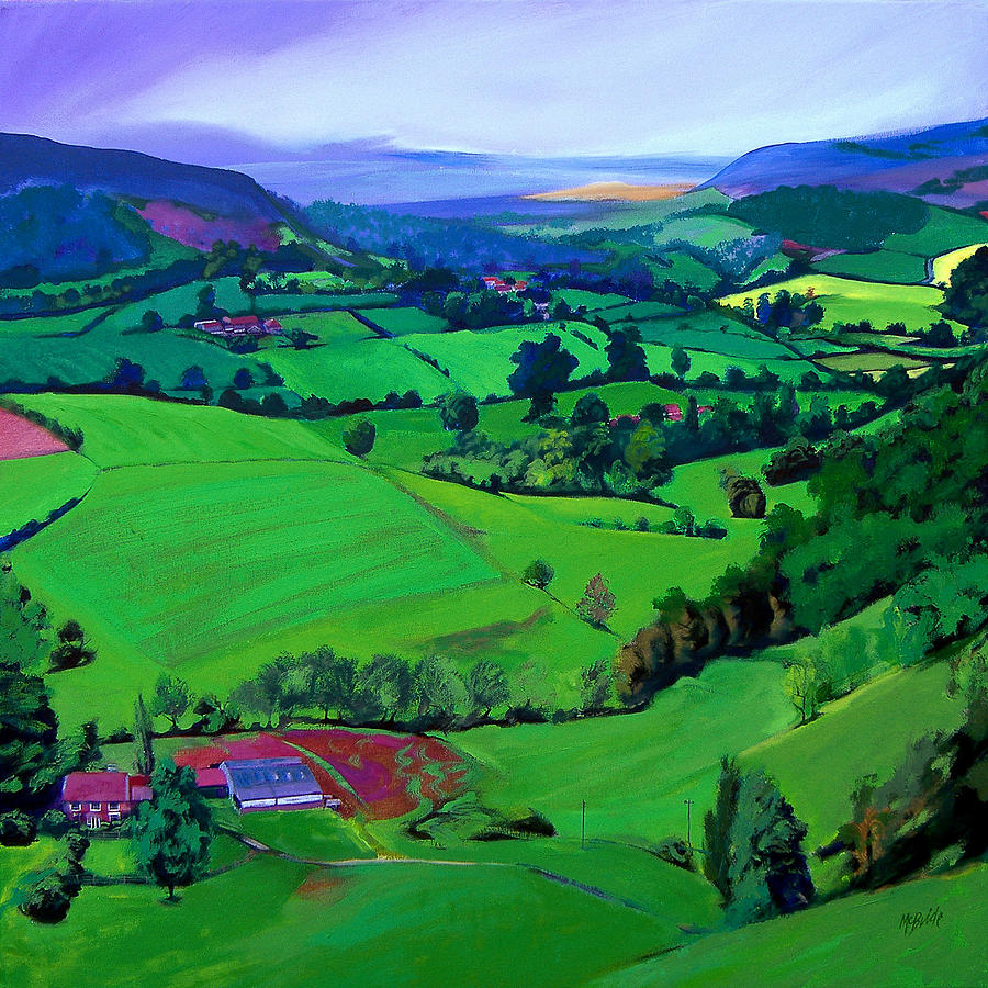 Scenic Painting - Dales Patchwork by Neil McBride