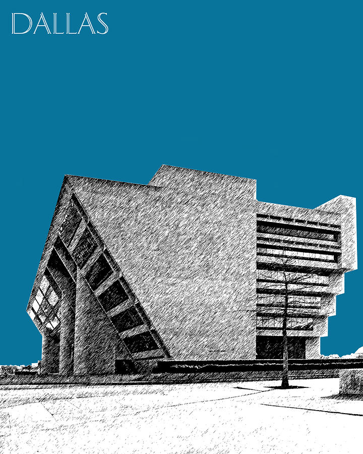 Dallas City Hall Digital Art  - Dallas City Hall Fine Art Print