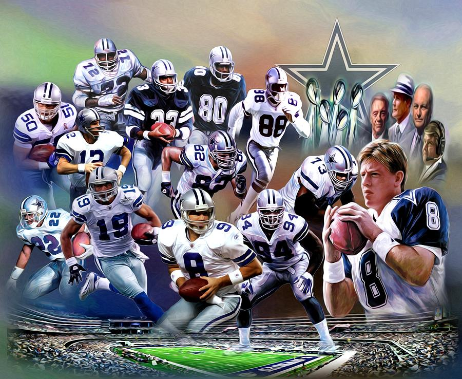 Dallas Cowboys Digital Art  - Dallas Cowboys Fine Art Print