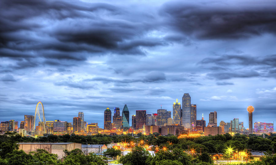 Dallas Skyline Photograph  - Dallas Skyline Fine Art Print