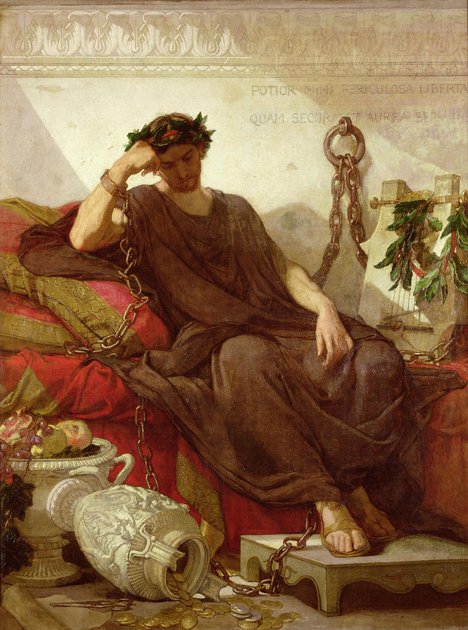 Damocles Painting  - Damocles Fine Art Print