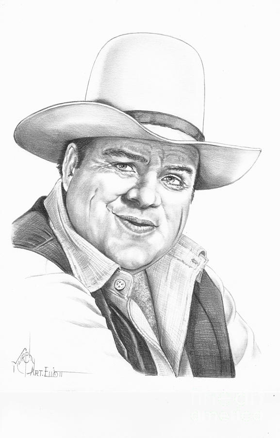 Dan Blocker Drawing  - Dan Blocker Fine Art Print