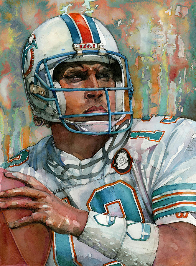 Dan Painting - Dan Marino by Michael  Pattison