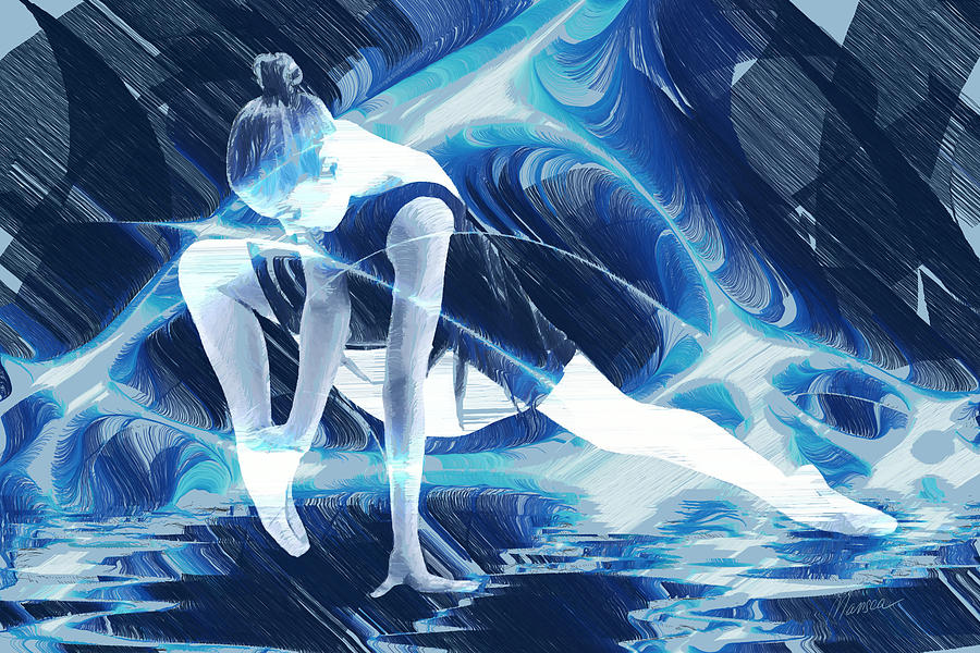 Ballet Drawing - Dance Of Light by Marina Likholat