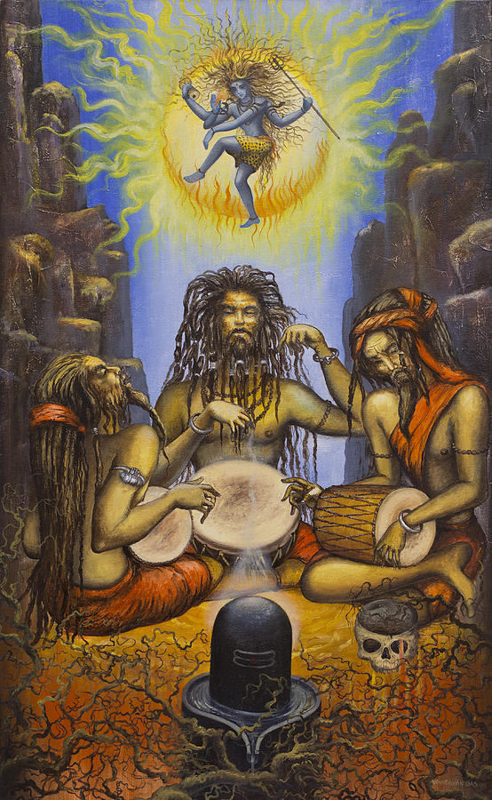 Shiva Painting - Dance Of Shiva by Vrindavan Das