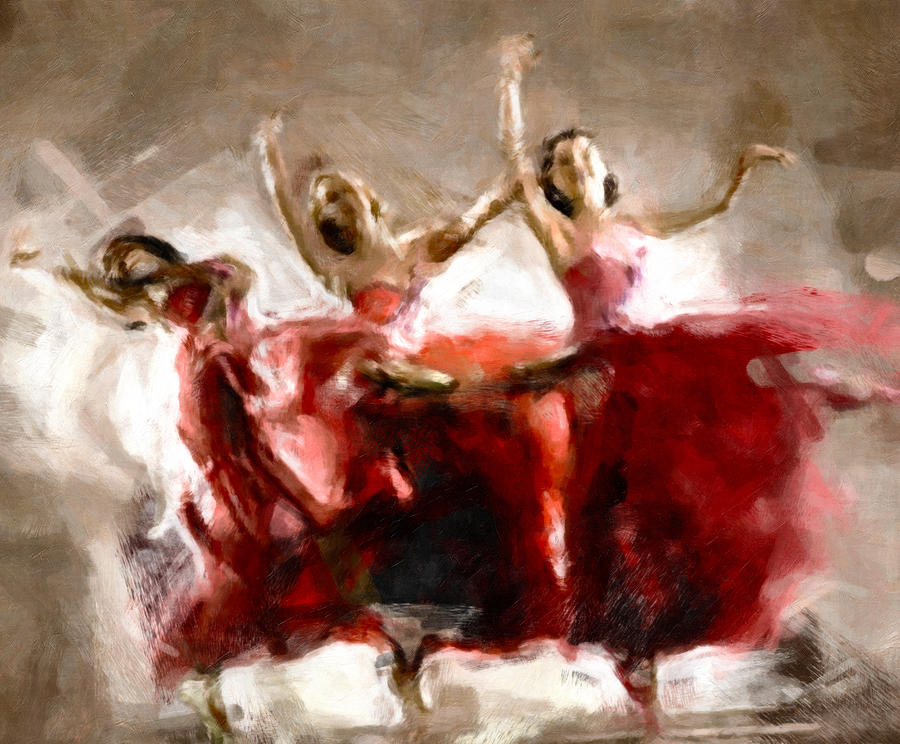 Dance The Hours Away Painting  - Dance The Hours Away Fine Art Print