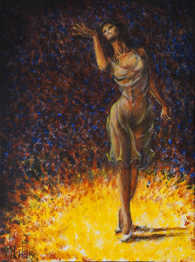 Dancer 08 Painting  - Dancer 08 Fine Art Print
