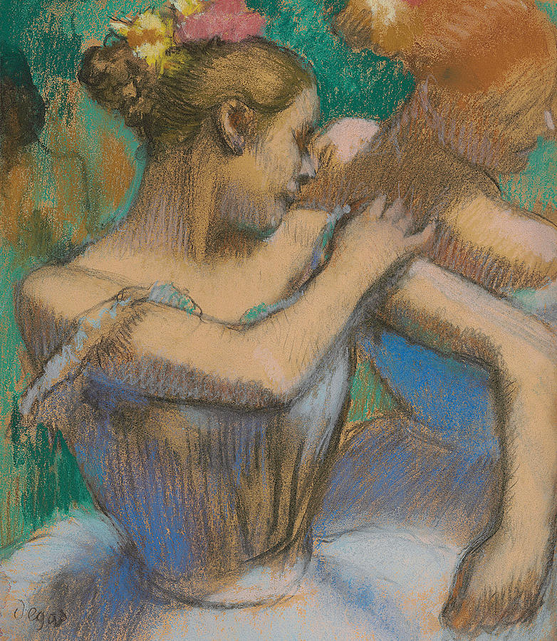 Dancer Adjusting Her Shoulder Pastel  - Dancer Adjusting Her Shoulder Fine Art Print