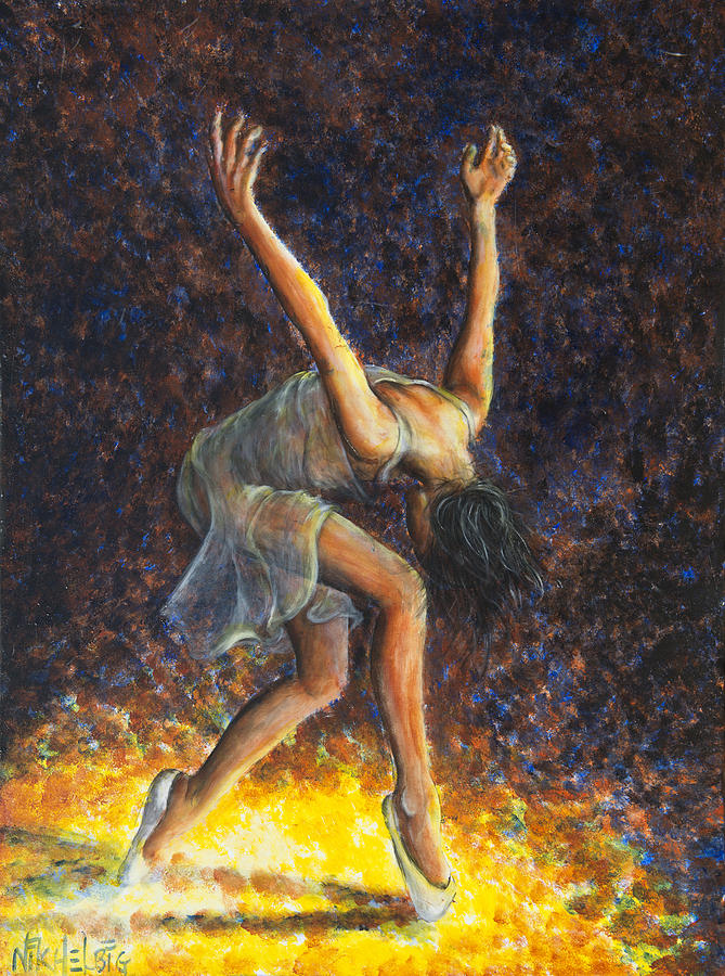 Dancer Viii Painting  - Dancer Viii Fine Art Print