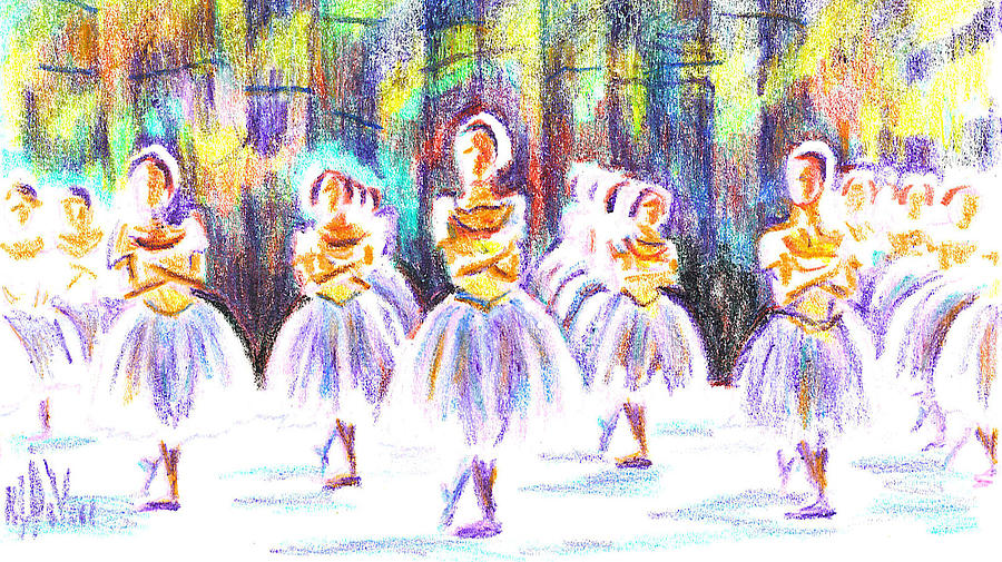 Dancers In The Forest II Painting