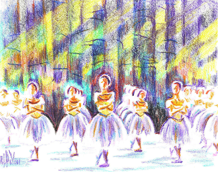 Dancers In The Forest Painting