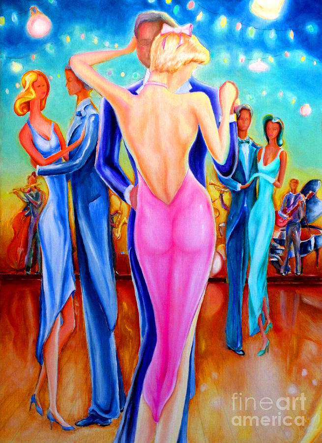 Dancing Close  Painting  - Dancing Close  Fine Art Print