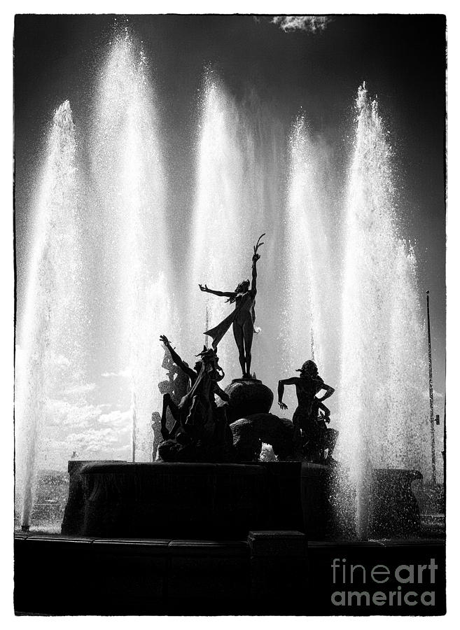 Dancing Fountain Photograph  - Dancing Fountain Fine Art Print