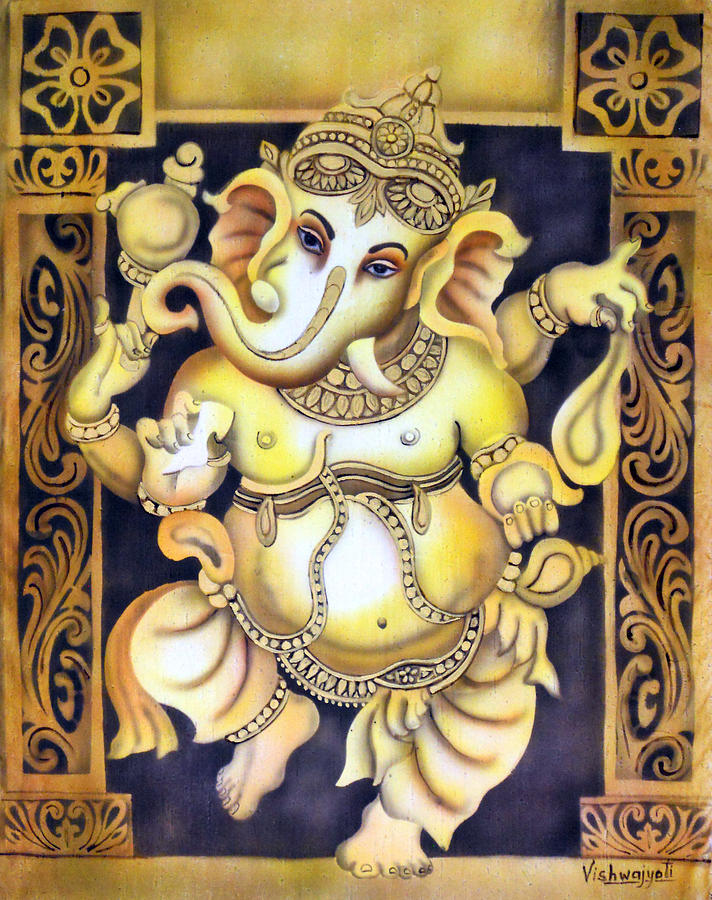 Dancing Ganesh Painting