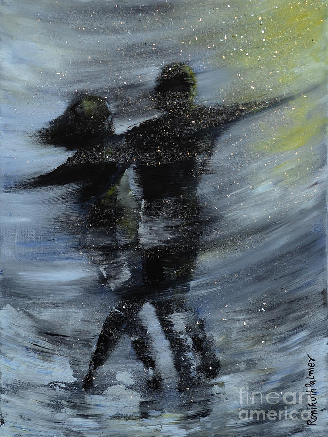 Dance Painting - Dancing In The Night by Roni Ruth Palmer