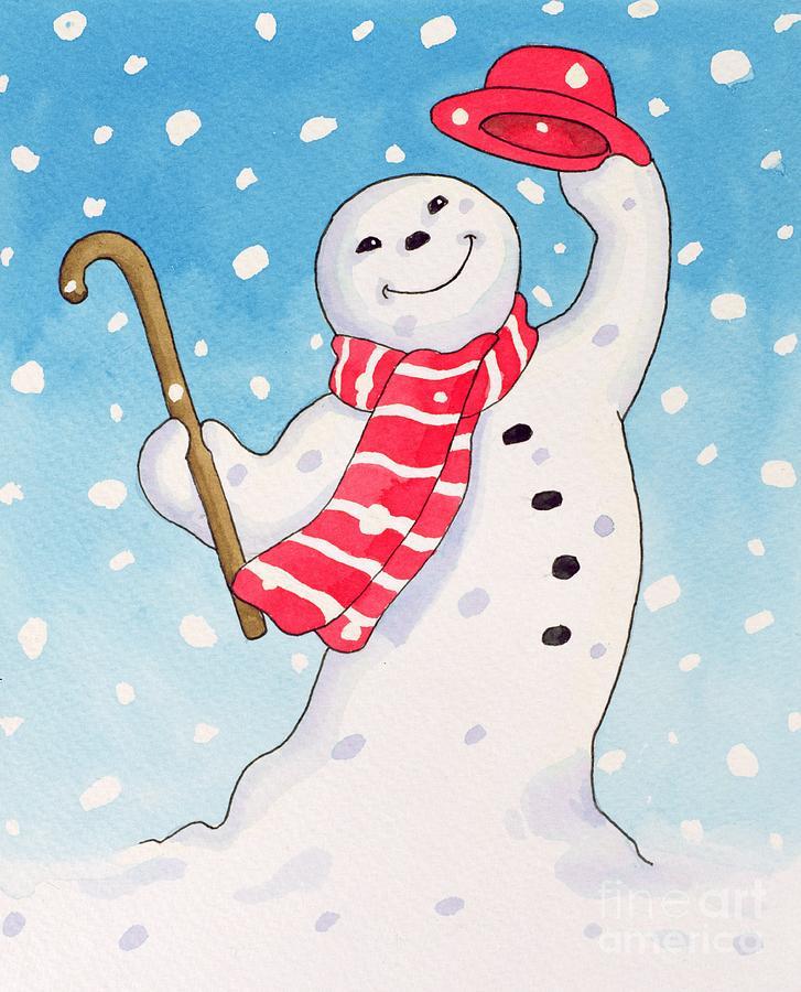 Dancing Snowman Painting