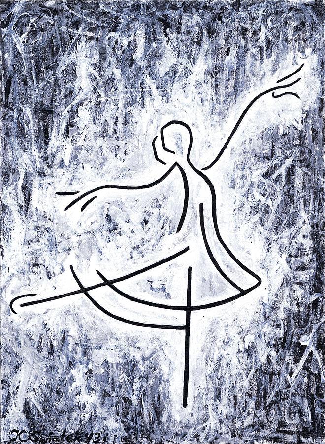 Dancing Swan Painting