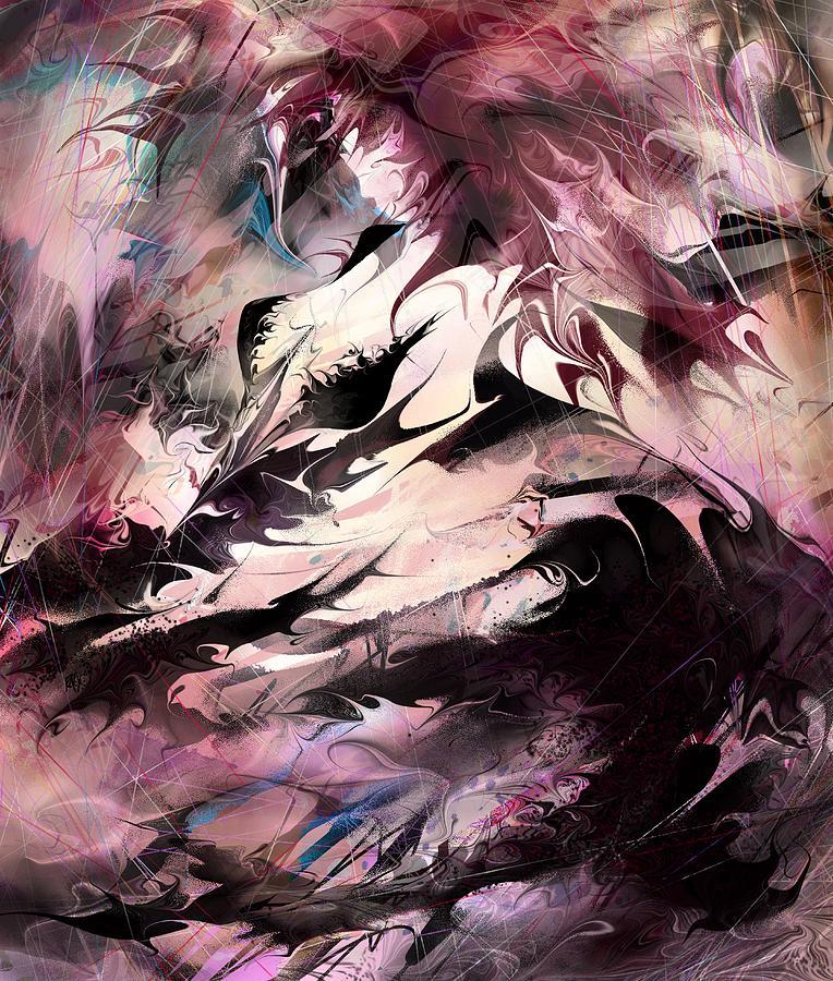 Dancing The Black Dress Digital Art