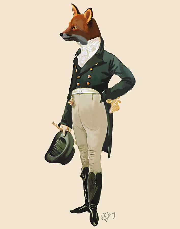 Dandy Fox Full Digital Art  - Dandy Fox Full Fine Art Print