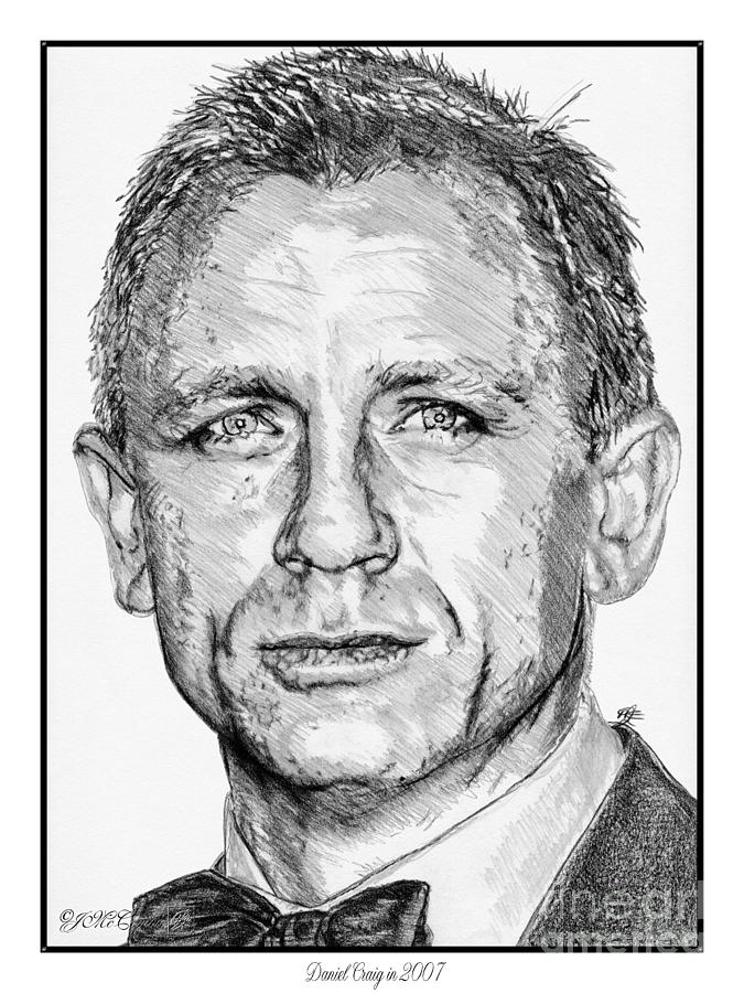 Daniel Craig In 2007 Drawing  - Daniel Craig In 2007 Fine Art Print