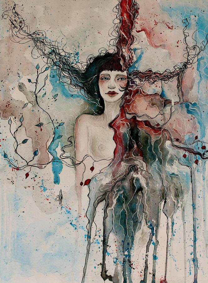 Dans Les Nuages Painting