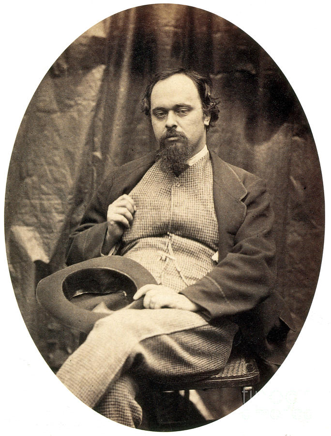Dante Gabriel Rossetti English Poet Photograph