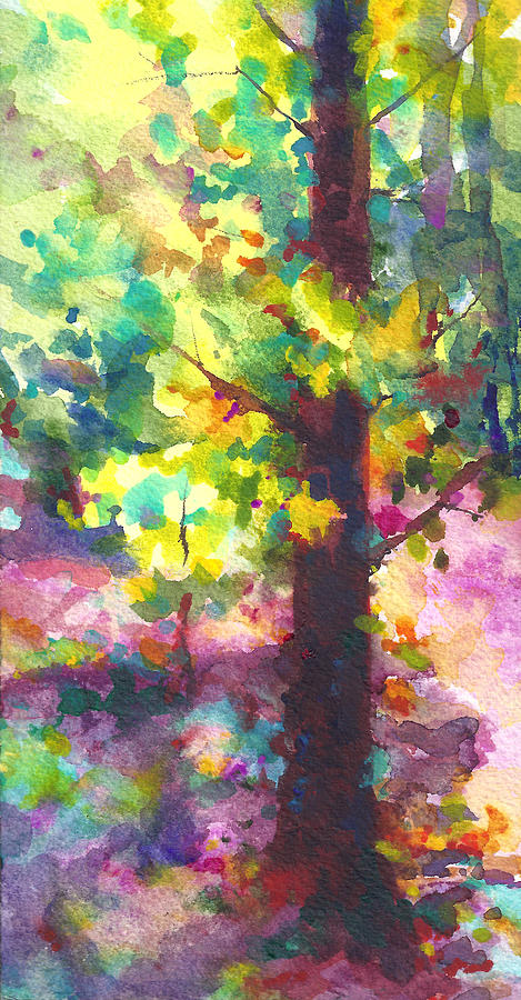 Tree Painting - Dappled - Light Through Tree Canopy by Talya Johnson