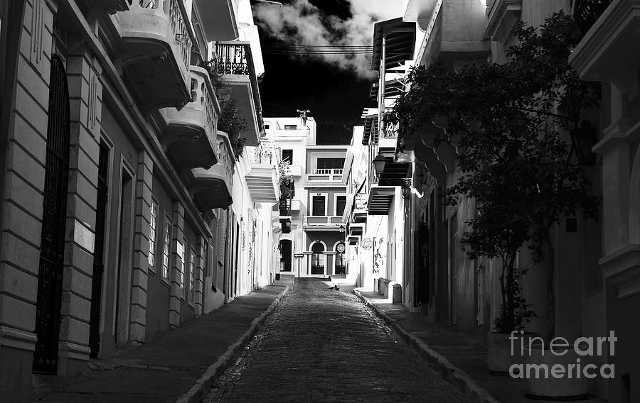 Dark Alley In San Juan Photograph