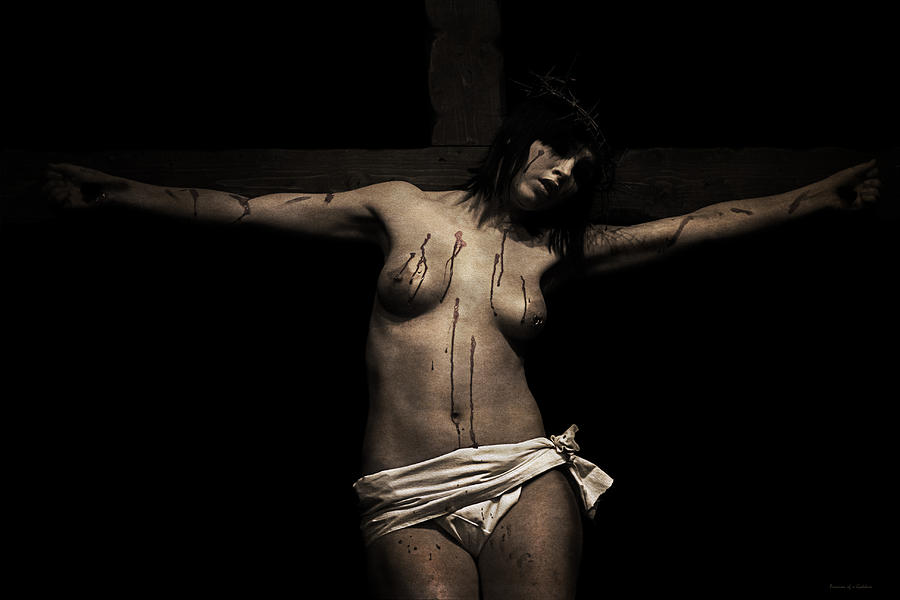 Dark Portrait Of A Female Jesus IIi Photograph