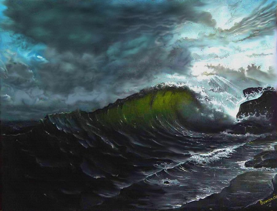 Dark Sea Painting By Demoncio