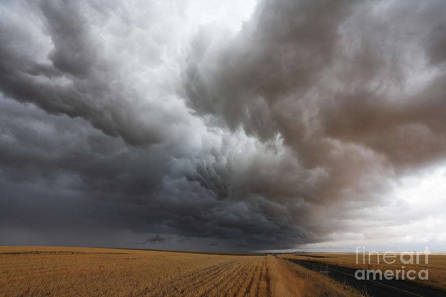Dark Storm Clouds Photograph  - Dark Storm Clouds Fine Art Print
