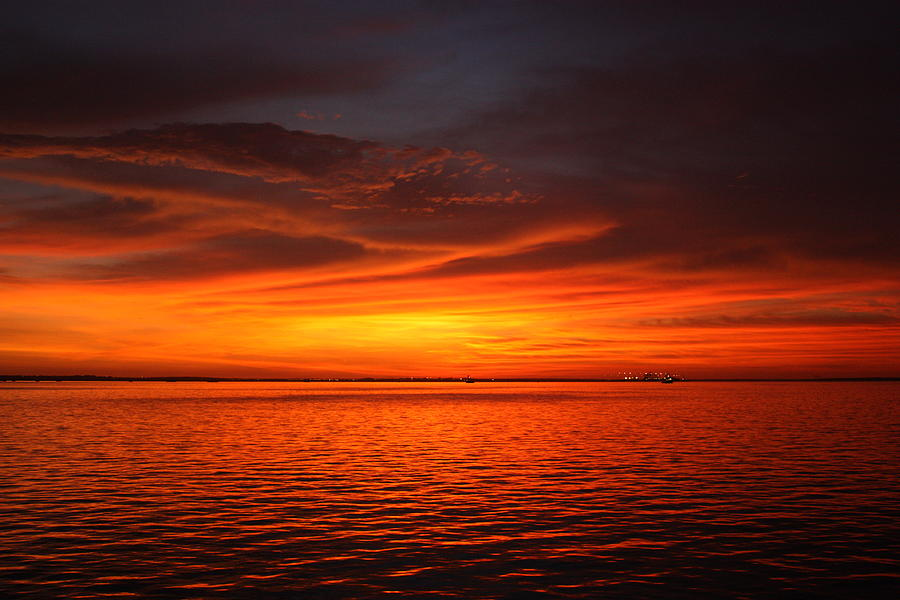 Sunrise Photograph - Darkness Meets Light by Laura Hiesinger