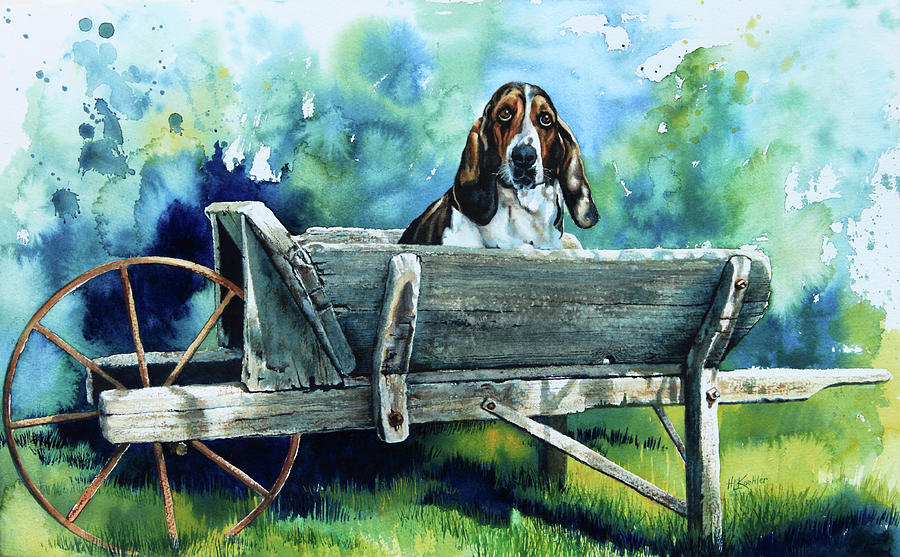 Darn Dog Days Painting  - Darn Dog Days Fine Art Print