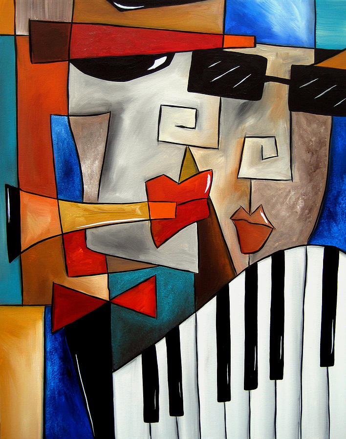 Darned Tootin - Original Cubist Art By Fidostudio Painting  - Darned Tootin - Original Cubist Art By Fidostudio Fine Art Print