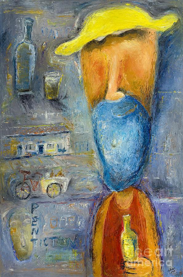 Bottle Painting - Darryll - 2012 by Nalidsa Sukprasert